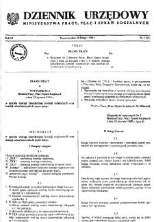 Dziennik Urzędowy Ministerstwa Pracy, Płac i Spraw Socjalnych : 1980, nr 3