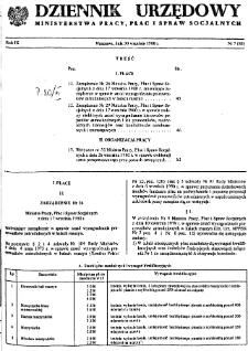 Dziennik Urzędowy Ministerstwa Pracy, Płac i Spraw Socjalnych : 1980, nr 7