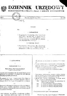 Dziennik Urzędowy Ministerstwa Pracy, Płac i Spraw Socjalnych : 1981, nr 2