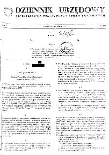 Dziennik Urzędowy Ministerstwa Pracy, Płac i Spraw Socjalnych : 1981, nr 3