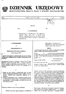 Dziennik Urzędowy Ministerstwa Pracy, Płac i Spraw Socjalnych : 1981, nr 4