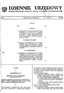 Dziennik Urzędowy Ministerstwa Pracy, Płac i Spraw Socjalnych : 1981, nr 6
