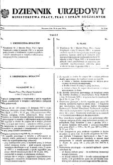 Dziennik Urzędowy Ministerstwa Pracy, Płac i Spraw Socjalnych : 1981, nr 7