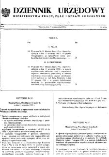 Dziennik Urzędowy Ministerstwa Pracy, Płac i Spraw Socjalnych : 1981, nr 8