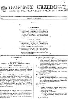 Dziennik Urzędowy Ministerstwa Pracy, Płac i Spraw Socjalnych : 1981, nr 9
