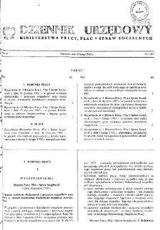 Dziennik Urzędowy Ministerstwa Pracy, Płac i Spraw Socjalnych : 1982, nr 1