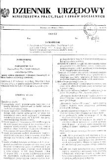 Dziennik Urzędowy Ministerstwa Pracy, Płac i Spraw Socjalnych : 1982, nr 2