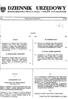 Dziennik Urzędowy Ministerstwa Pracy, Płac i Spraw Socjalnych : 1982, nr 3