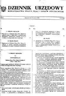 Dziennik Urzędowy Ministerstwa Pracy, Płac i Spraw Socjalnych : 1982, nr 4
