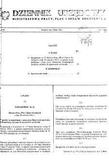 Dziennik Urzędowy Ministerstwa Pracy, Płac i Spraw Socjalnych : 1982, nr 5