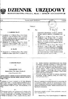 Dziennik Urzędowy Ministerstwa Pracy, Płac i Spraw Socjalnych : 1982, nr 6