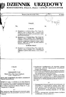 Dziennik Urzędowy Ministerstwa Pracy, Płac i Spraw Socjalnych : 1982, nr 7