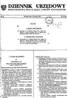 Dziennik Urzędowy Ministerstwa Pracy, Płac i Spraw Socjalnych : 1982, nr 8