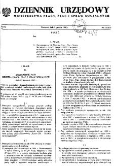 Dziennik Urzędowy Ministerstwa Pracy, Płac i Spraw Socjalnych : 1982, nr 11