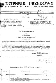Dziennik Urzędowy Ministerstwa Pracy, Płac i Spraw Socjalnych : 1982, nr 12