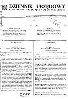 Dziennik Urzędowy Ministerstwa Pracy, Płac i Spraw Socjalnych : 1983, nr 1