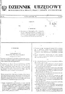 Dziennik Urzędowy Ministerstwa Pracy, Płac i Spraw Socjalnych : 1983, nr 2