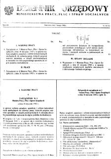 Dziennik Urzędowy Ministerstwa Pracy, Płac i Spraw Socjalnych : 1983, nr 3