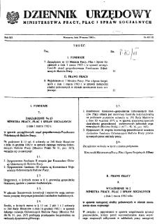Dziennik Urzędowy Ministerstwa Pracy, Płac i Spraw Socjalnych : 1983, nr 4