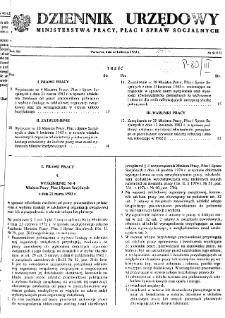 Dziennik Urzędowy Ministerstwa Pracy, Płac i Spraw Socjalnych : 1983, nr 5