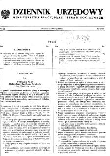Dziennik Urzędowy Ministerstwa Pracy, Płac i Spraw Socjalnych : 1983, nr 7