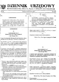 Dziennik Urzędowy Ministerstwa Pracy, Płac i Spraw Socjalnych : 1983, nr 8