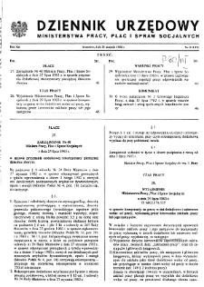 Dziennik Urzędowy Ministerstwa Pracy, Płac i Spraw Socjalnych : 1983, nr 11