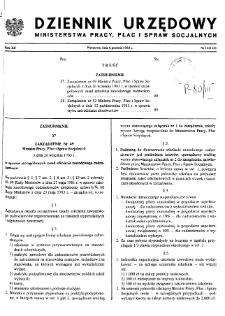 Dziennik Urzędowy Ministerstwa Pracy, Płac i Spraw Socjalnych : 1983, nr 14