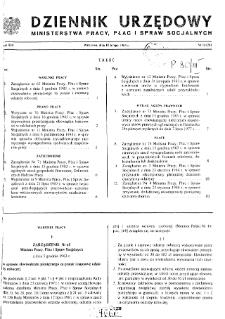 Dziennik Urzędowy Ministerstwa Pracy, Płac i Spraw Socjalnych : 1984, nr 1