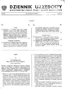 Dziennik Urzędowy Ministerstwa Pracy, Płac i Spraw Socjalnych : 1984, nr 4