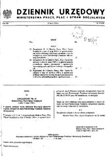 Dziennik Urzędowy Ministerstwa Pracy, Płac i Spraw Socjalnych : 1984, nr 5