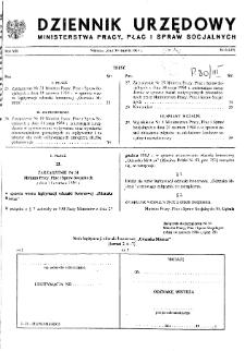 Dziennik Urzędowy Ministerstwa Pracy, Płac i Spraw Socjalnych : 1984, nr 6