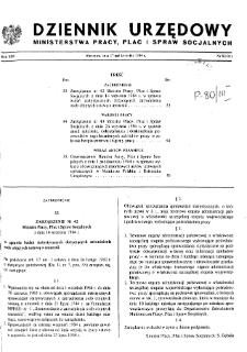 Dziennik Urzędowy Ministerstwa Pracy, Płac i Spraw Socjalnych : 1984, nr 8