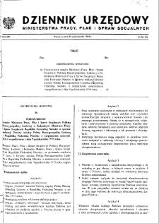 Dziennik Urzędowy Ministerstwa Pracy, Płac i Spraw Socjalnych : 1984, nr 9