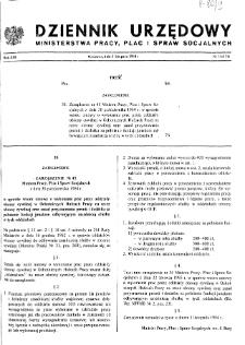 Dziennik Urzędowy Ministerstwa Pracy, Płac i Spraw Socjalnych : 1984, nr 11