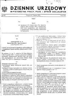 Dziennik Urzędowy Ministerstwa Pracy, Płac i Spraw Socjalnych : 1984, nr 12