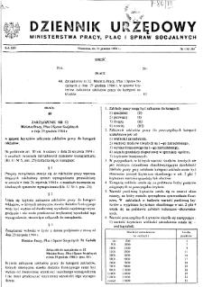 Dziennik Urzędowy Ministerstwa Pracy, Płac i Spraw Socjalnych : 1984, nr 13