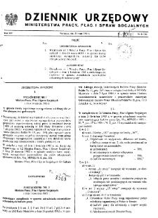 Dziennik Urzędowy Ministerstwa Pracy, Płac i Spraw Socjalnych : 1985, nr 1