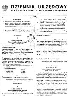 Dziennik Urzędowy Ministerstwa Pracy, Płac i Spraw Socjalnych : 1985, nr 2