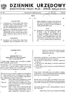 Dziennik Urzędowy Ministerstwa Pracy, Płac i Spraw Socjalnych : 1985, nr 6