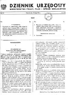 Dziennik Urzędowy Ministerstwa Pracy, Płac i Spraw Socjalnych : 1986, nr 1