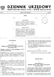 Dziennik Urzędowy Ministerstwa Pracy, Płac i Spraw Socjalnych : 1986, nr 2