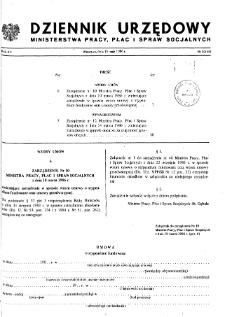 Dziennik Urzędowy Ministerstwa Pracy, Płac i Spraw Socjalnych : 1986, nr 3