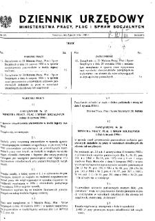 Dziennik Urzędowy Ministerstwa Pracy, Płac i Spraw Socjalnych : 1986, nr 5