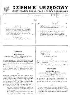 Dziennik Urzędowy Ministerstwa Pracy, Płac i Spraw Socjalnych : 1987, nr 1