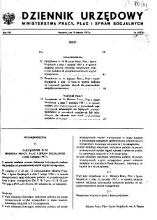 Dziennik Urzędowy Ministerstwa Pracy, Płac i Spraw Socjalnych : 1987, nr 5