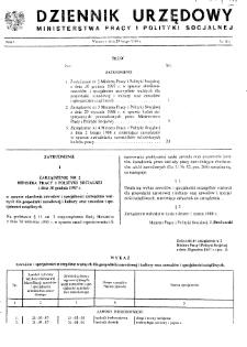 Dziennik Urzędowy Ministerstwa Pracy i Polityki Socjalnej : 1988, nr 1