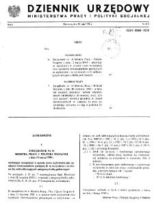 Dziennik Urzędowy Ministerstwa Pracy i Polityki Socjalnej : 1988, nr 4