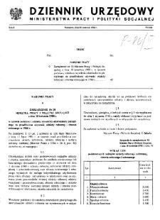 Dziennik Urzędowy Ministerstwa Pracy i Polityki Socjalnej : 1988, nr 6