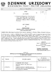 Dziennik Urzędowy Ministerstwa Pracy i Polityki Socjalnej : 1988, nr 8